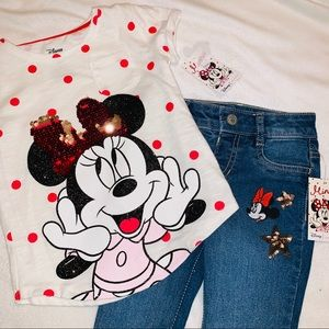 Girls Disney Minnie Mouse outfit NWT